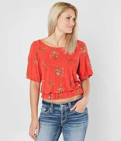 Daytrip Floral Peplum Top