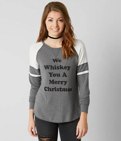 twine & stark Whiskey Christmas Sweatshirt