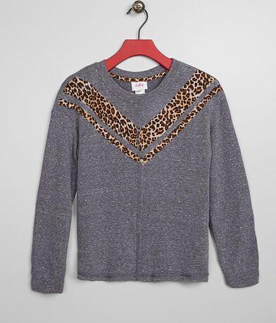 Girls - Daytrip Animal Print Chevron Pullover