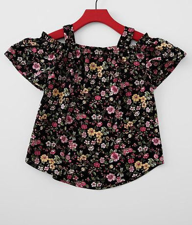 Girls - Daytrip Floral Cold Shoulder Top