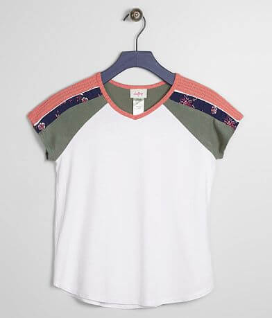 Girls - Daytrip Floral Color Block Top