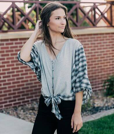 Daytrip Button Down Top