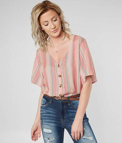 Daytrip Striped Woven Blouse