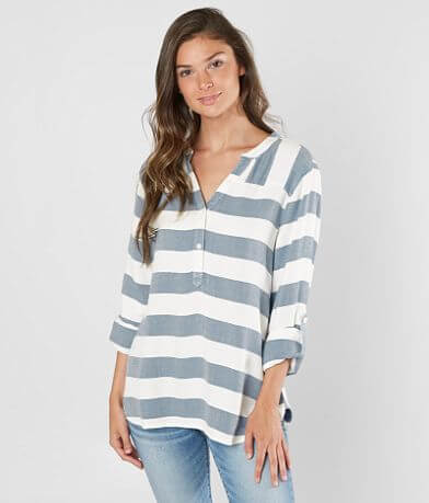 Daytrip Striped Henley Top