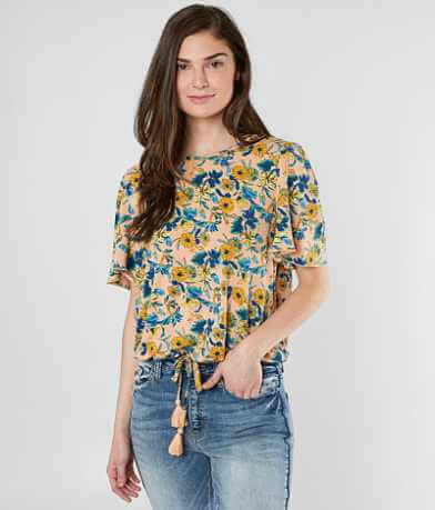 Daytrip Floral Open Back Top