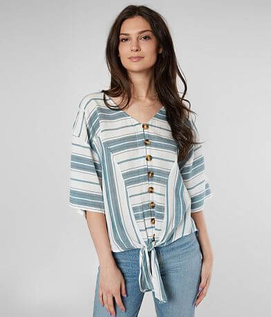 Daytrip Woven Striped Blouse