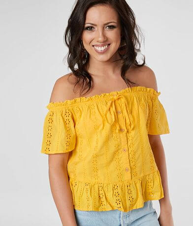 Daytrip Off The Shoulder Eyelet Top