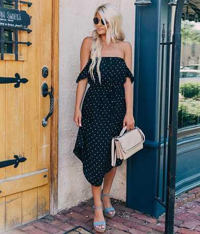 Daytrip Polka Dot Midi Dress