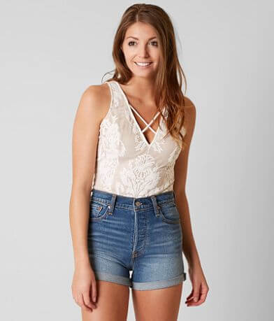 willow & root Embroidered Bodysuit