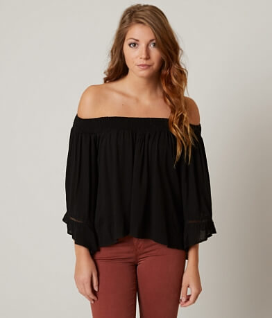 willow & root Crinkle Off The Shoulder Top