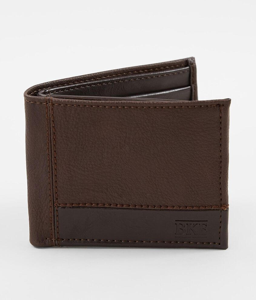 BKE Faux Leather Wallet front view