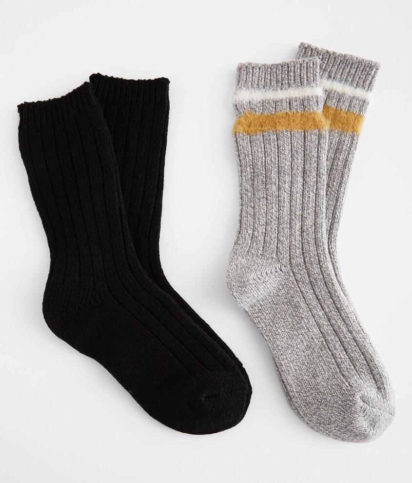 BKE 2 Pack Ribbed Socks front view