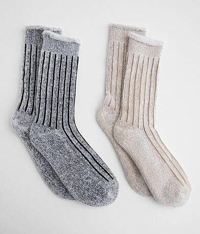 BKE 2 Pack Plush Ribbed Socks