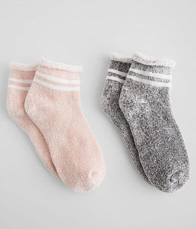 BKE 2 Pack Striped Ankle Socks