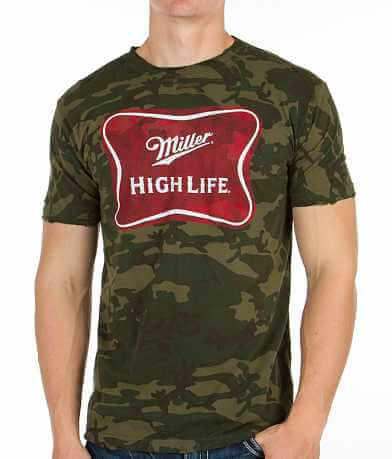 Mustache Brigade High Life Shield T-Shirt