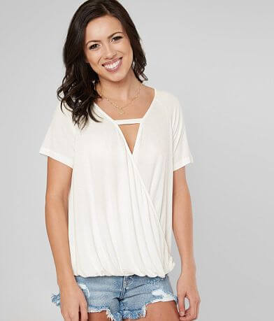 Daytrip Surplice Knit Top