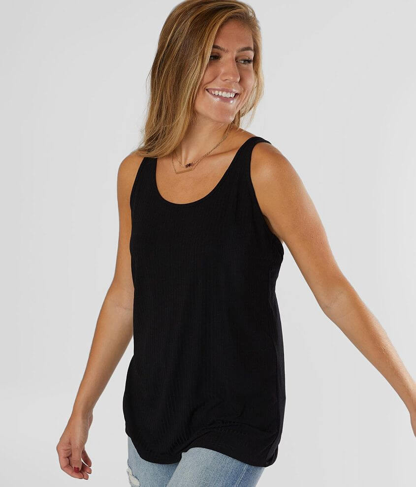 Daytrip Ribbed Knit Tank Top front view