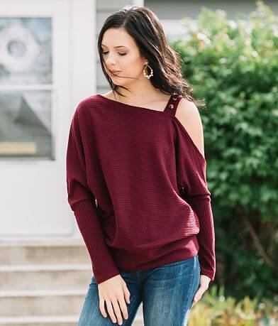 Doe & Rae Asymmetrical Ribbed Top