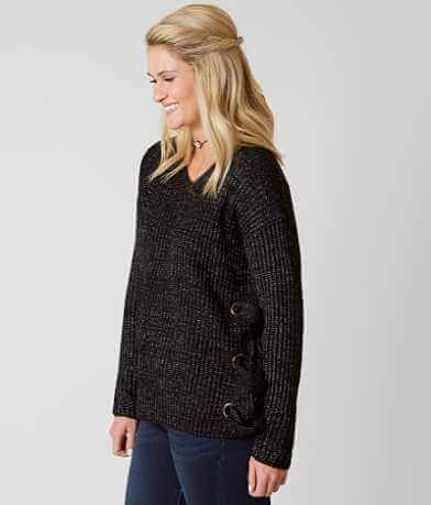 Doe & Rae Lace-Up Sweater
