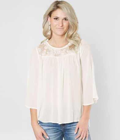 Doe & Rae Pleated Crinkle Top