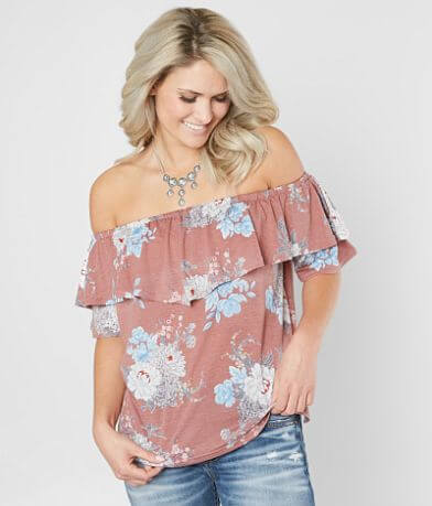 Doe & Rae Floral Off The Shoulder Top