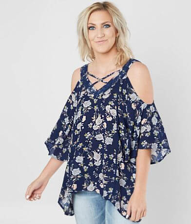Doe & Rae Cold Shoulder Top
