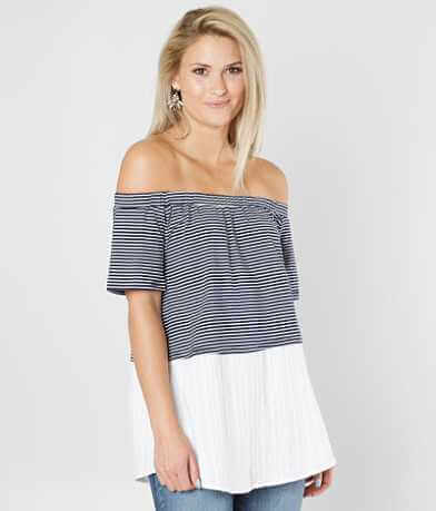 Doe & Rae Striped Off The Shoulder Top