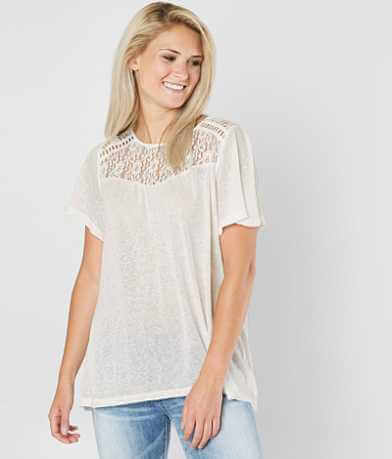 Doe & Rae Lace Burnout Top