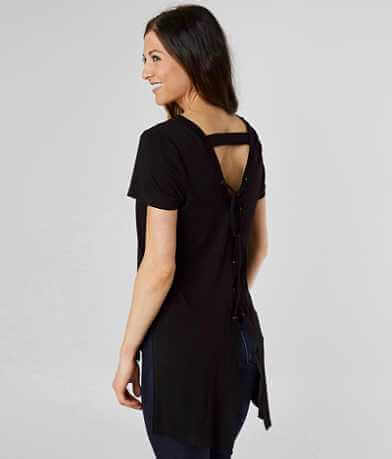 Doe & Rae Back Lace-Up Top