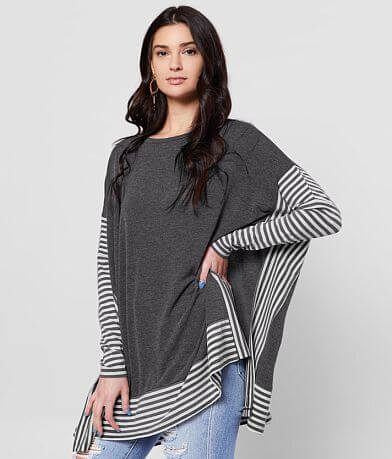Daytrip Pieced High Low Hem Top
