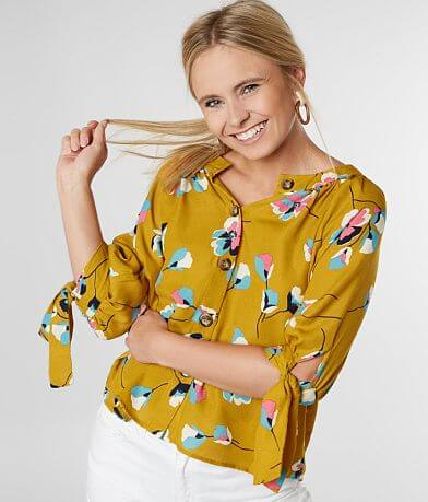 Willow & Root Floral Print Blouse