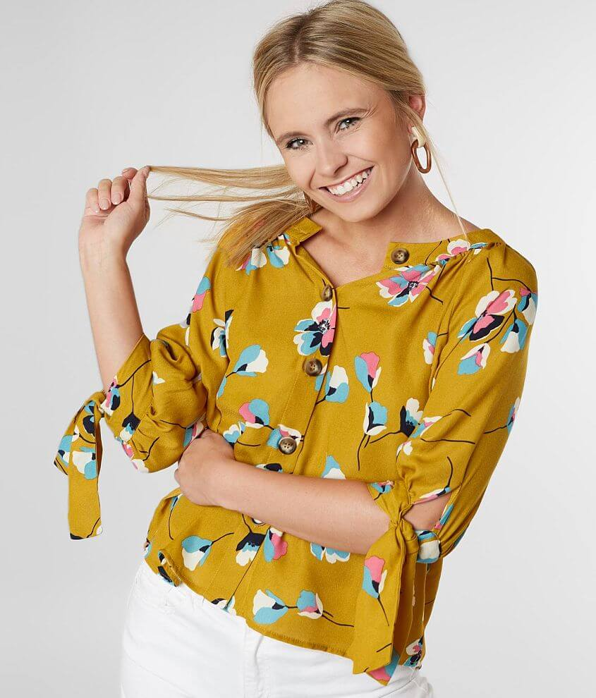 Willow & Root Floral Print Blouse front view