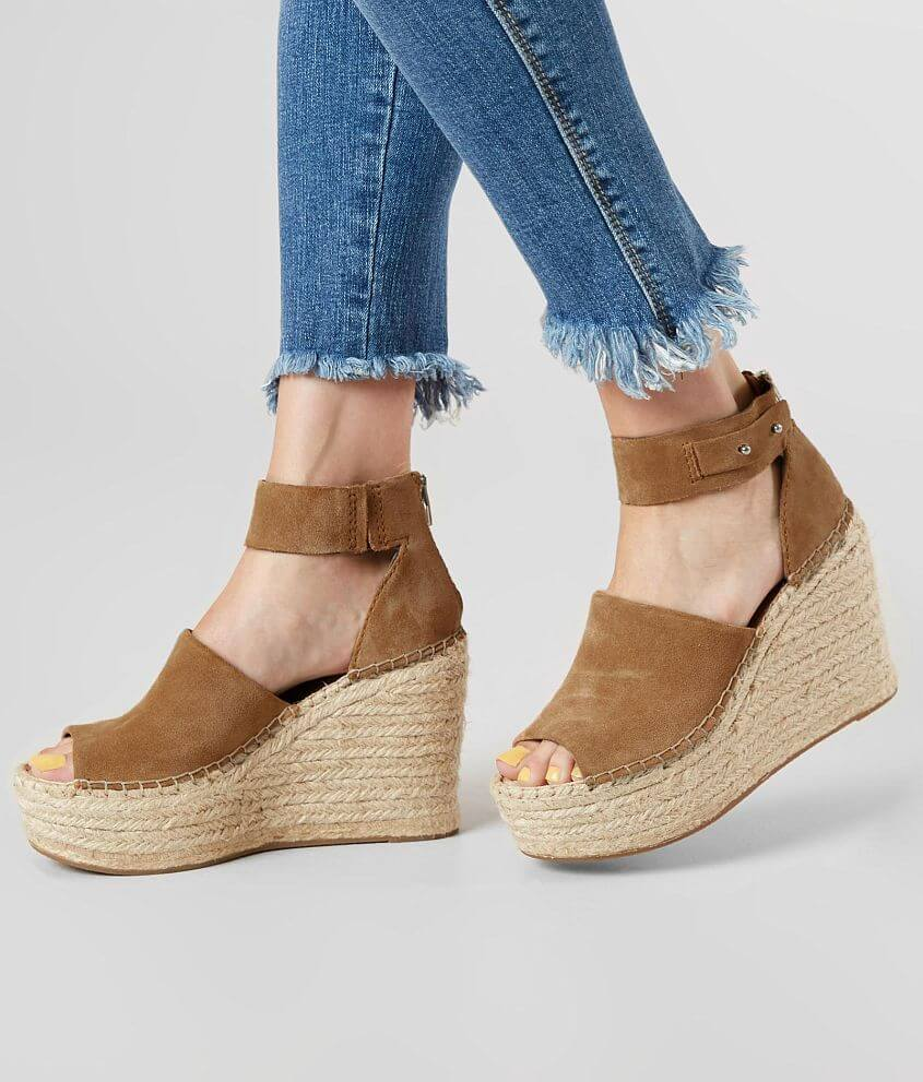 114fe4f56a950 Dolce Vita Straw Leather Wedge Sandal - Women's Shoes in DK Saddle ...