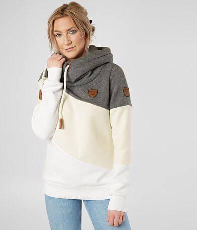 Wanakome Selene Asymmetrical Hooded Pullover