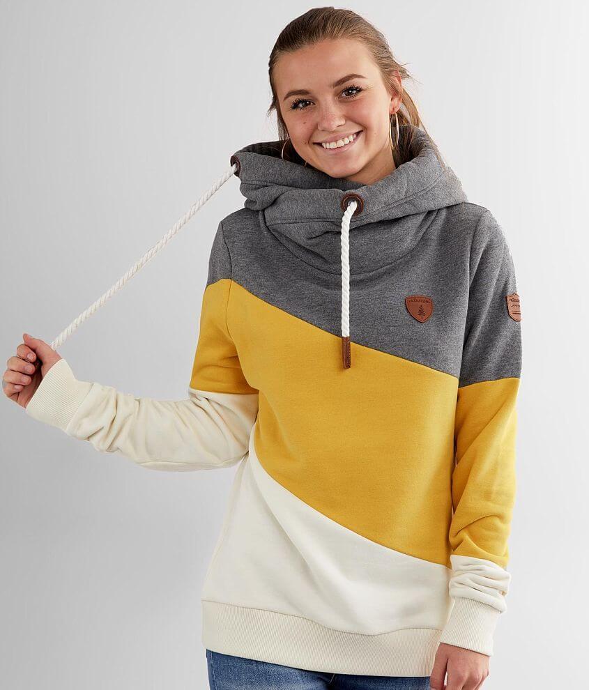 Wanakome Selene Asymmetrical Hooded Sweatshirt front view