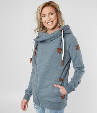 Wanakome Athena Asymmetrical Hooded Sweatshirt