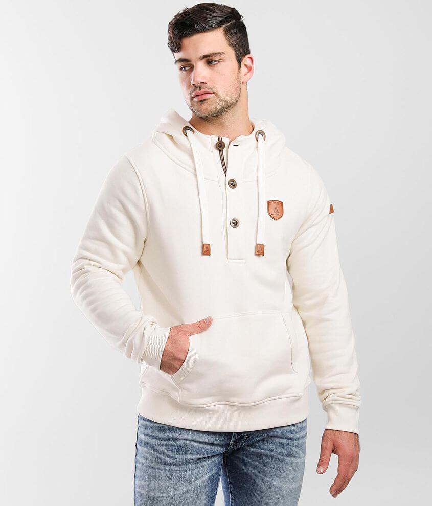 Wanakome Smallwood Hooded Henley Sweatshirt front view