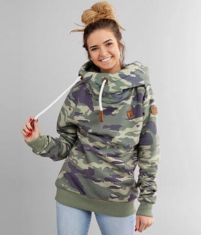 Wanakome Carol Camo Hooded Sweatshirt
