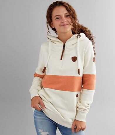 Wanakome Delia Hooded Quarter Zip Sweatshirt