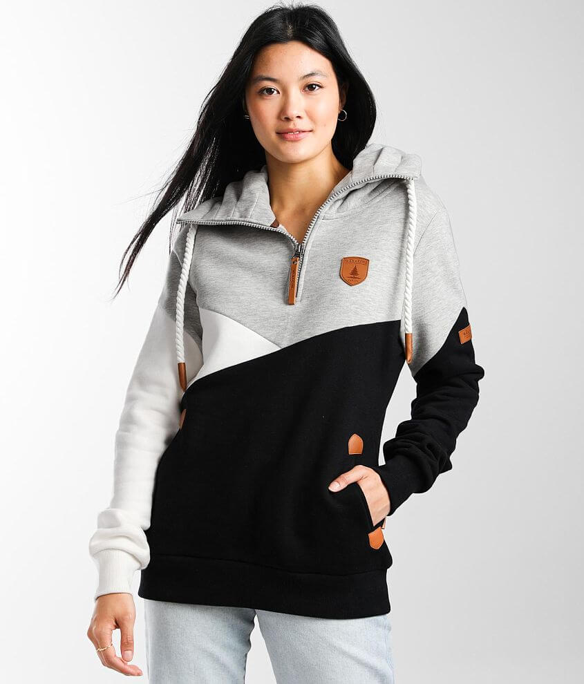 Wanakome Becky Color Block Pullover Sweatshirt front view
