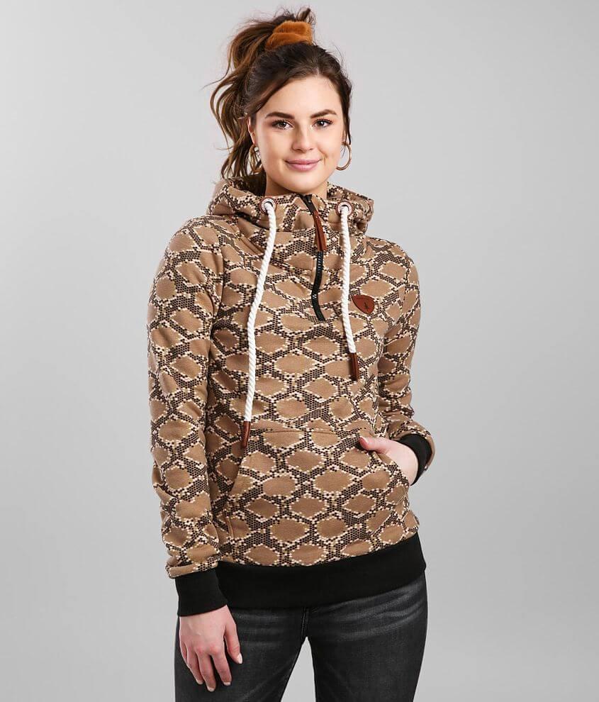 Wanakome Taylor Snake Print Hooded Sweatshirt front view