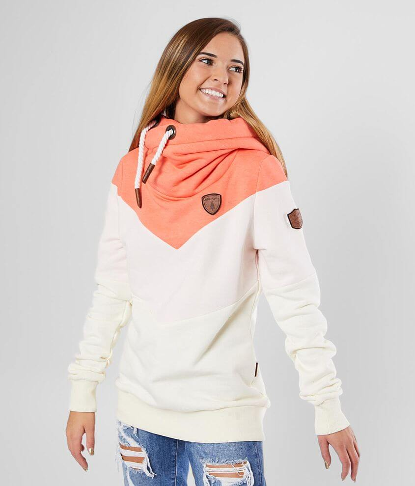 Wanakome Vera Color Block Hooded Sweatshirt front view