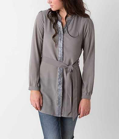 Double Zero Chiffon Tunic Blouse