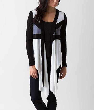 Double Zero Color Block Cardigan