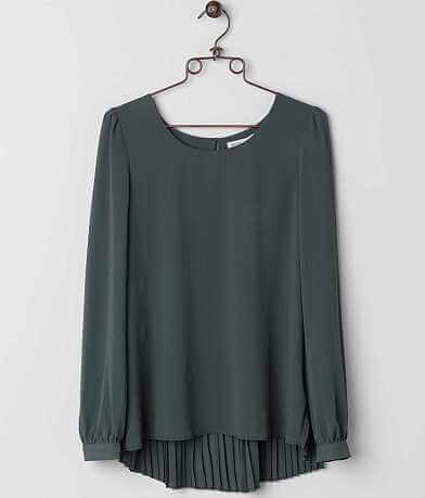 Double Zero Pleated Top