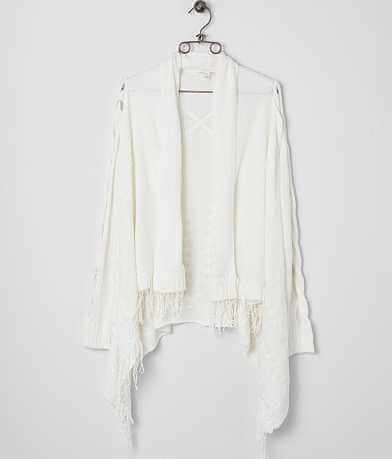 Double Zero Fringe Cardigan Sweater