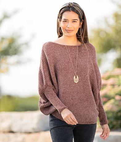 Hyfve Chenille Wide Neck Dolman Sweater