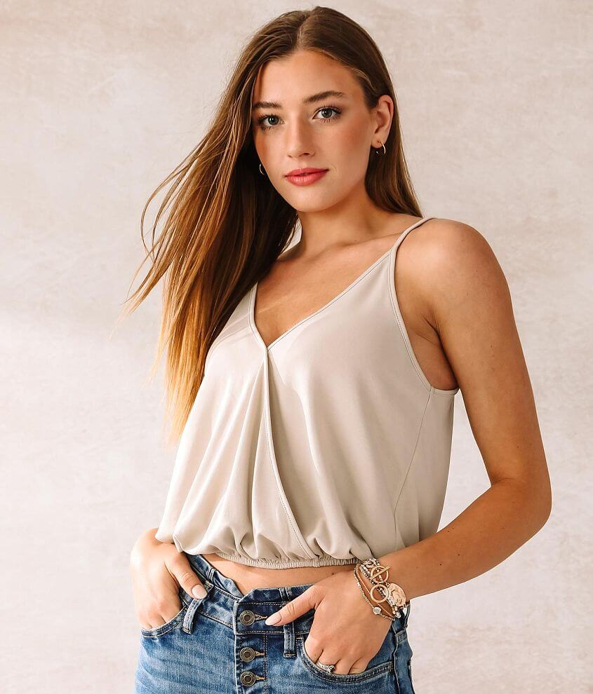 Willow & Root Surplice Knit Tank Top front view