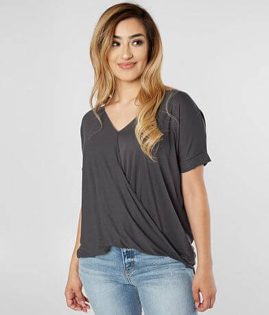 Double Zero Surplice Top
