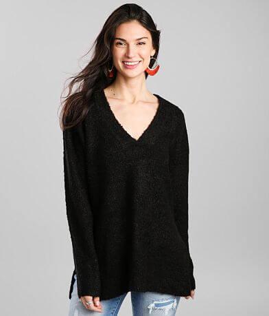 Double Zero Slouchy V-Neck Sweater